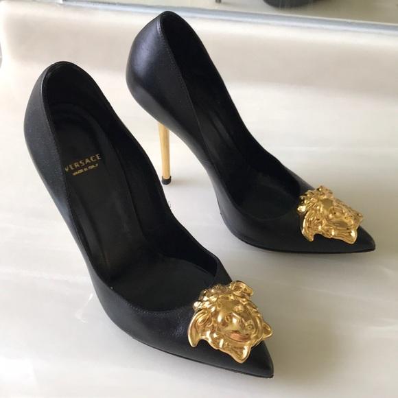 Versace Shoes   Black Versace Stilettos
